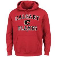 Calgary Flames Majestic Heart & Soul Hoodie Red