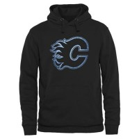 Calgary Flames Rinkside Pond Hockey Pullover Hoodie Black