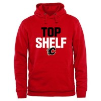 Calgary Flames Top Shelf Pullover Hoodie Scarlet