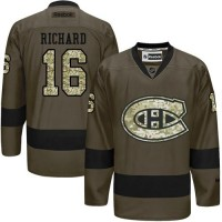 Canadiens #16 Henri Richard Green Salute to Service Stitched NHL Jersey