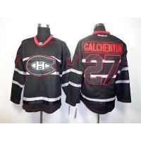 Canadiens #27 Alex Galchenyuk Black Ice Stitched NHL Jersey