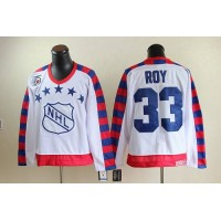 Canadiens #33 Patrick Roy White All Star CCM Throwback 75TH Stitched NHL Jersey