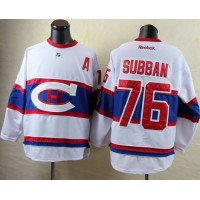 Canadiens #76 P.K Subban White 2016 Winter Classic Stitched NHL Jersey