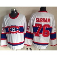 Canadiens #76 P.K Subban White CCM Throwback Stitched NHL Jersey