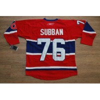 Canadiens #76 PK Subban Stitched Red New CA NHL Jersey