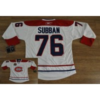 Canadiens #76 PK Subban Stitched White Heritage Classic Style NHL Jersey