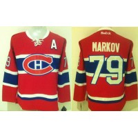 Canadiens #79 Andrei Markov Red New CH Stitched NHL Jersey