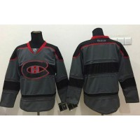Canadiens Blank Charcoal Cross Check Fashion Stitched NHL Jersey