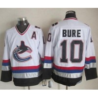 Canucks #10 Pavel Bure WhiteBlack CCM Throwback Stitched NHL Jersey