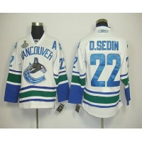Canucks 2011 Stanley Cup Finals #22 D.sedin White Stitched NHL Jersey
