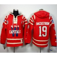 Capitals #19 Nicklas Backstrom 2015 Winter Classic Red Sawyer Hooded Sweatshirt Stitched NHL Jersey