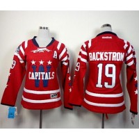Capitals #19 Nicklas Backstrom 2015 Winter Classic Red Women's Stitched White NHL Jersey