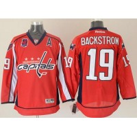 Capitals #19 Nicklas Backstrom Red 40th Anniversary Stitched NHL Jersey