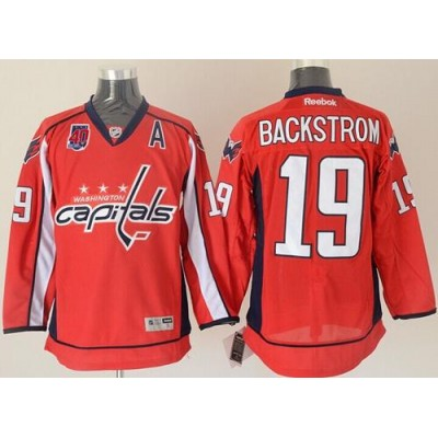 meet 82367 ee529 Capitals #19 Nicklas Backstrom Red 40th Anniversary Stitched ...
