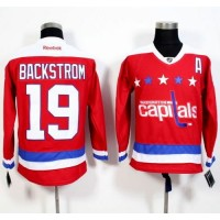 Capitals #19 Nicklas Backstrom Red Alternate Stitched NHL Jersey