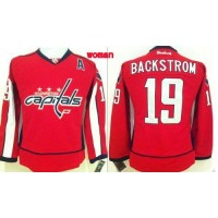 Capitals #19 Nicklas Backstrom Red Home Women's Stitched NHL Jersey