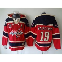Capitals #19 Nicklas Backstrom Red Sawyer Hooded Sweatshirt Stitched NHL Jersey