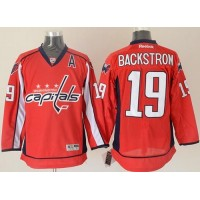 Capitals #19 Nicklas Backstrom Red Stitched NHL Jersey