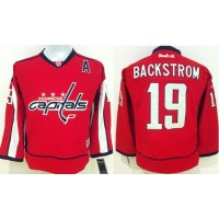 Capitals #19 Nicklas Backstrom Stitched Red Youth NHL Jersey