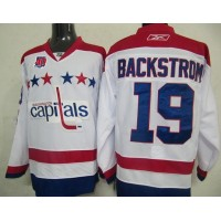 Capitals #19 Nicklas Backstrom White 2011 Winter Classic Vintage 40th Anniversary Stitched NHL Jersey