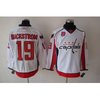 Capitals #19 Nicklas Backstrom White 40th Anniversary Stitched NHL Jersey