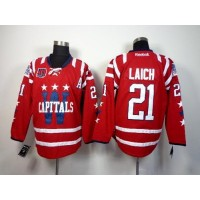 Capitals #21 Brooks Laich 2015 Winter Classic Red 40th Anniversary Stitched NHL Jersey