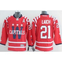 Capitals #21 Brooks Laich 2015 Winter Classic Red Stitched NHL Jersey