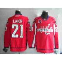 Capitals #21 Brooks Laich Red 40th Anniversary Stitched NHL Jersey