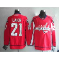 Capitals #21 Brooks Laich Stitched Red NHL Jersey