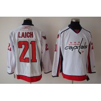 Capitals #21 Brooks Laich Stitched White NHL Jersey