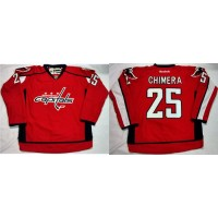 Capitals #25 Jason Chimera Red Home Stitched NHL Jersey