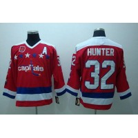Capitals #32 Dale Hunter Red CCM Throwback 40th Anniversary Stitched NHL Jersey