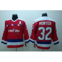 Capitals #32 Dale Hunter Stitched CCM Throwback Red NHL Jersey