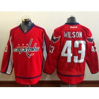 Capitals #43 Tom Wilson Red Home Stitched NHL Jersey