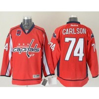 Capitals #74 John Carlson Red 40th Anniversary Stitched NHL Jersey