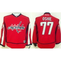 Capitals #77 T.J Oshie Red Stitched Youth NHL Jersey