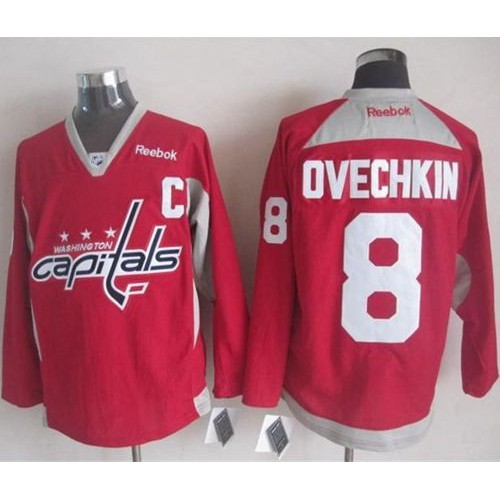 Capitals  8 Alex Ovechkin Red Practice Stitched NHL Jersey 415281678