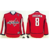 Capitals #8 Alex Ovechkin Red Stitched Youth NHL Jersey