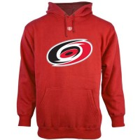 Carolina Hurricanes Old Time Hockey Big Logo with Crest Pullover Hoodie Red