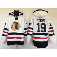 Chicago Blackhawks #19 Jonathan Toews White Sawyer Hooded Sweatshirt 2017 Winter Classic Stitched NHL Jersey