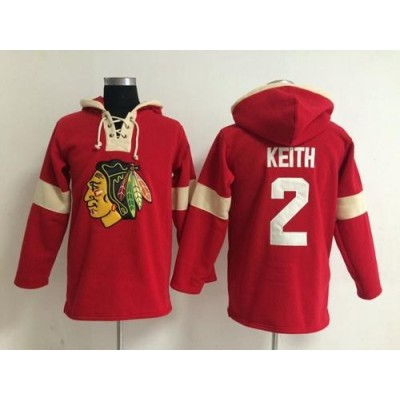 Chicago Blackhawks #2 Duncan Keith Red Pullover NHL Hoodie