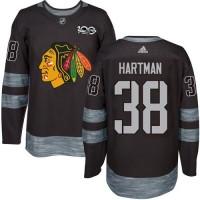 Chicago Blackhawks #38 Ryan Hartman Black 1917-2017 100th Anniversary Stitched NHL Jersey