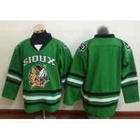 Chicago Blackhawks Blank Green Sioux Stitched NHL Jersey