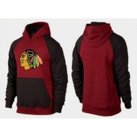 Chicago Blackhawks Pullover Hoodie Burgundy Red & Black
