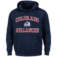 Colorado Avalanche Majestic Heart & Soul Hoodie Navy Blue