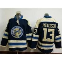 Columbus Blue Jackets #13 Cam Atkinson Navy Blue Alternate Stitched NHL Jersey