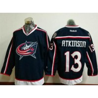 Columbus Blue Jackets #13 Cam Atkinson Navy Blue Home Stitched NHL Jersey