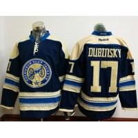 Columbus Blue Jackets #17 Brandon Dubinsky Navy Blue Alternate Stitched NHL Jersey