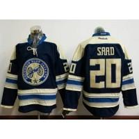 Columbus Blue Jackets #20 Brandon Saad Navy Blue Alternate Stitched NHL Jersey