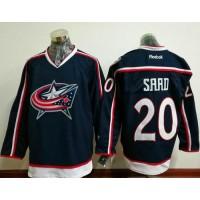 Columbus Blue Jackets #20 Brandon Saad Navy Blue Home Stitched NHL Jersey